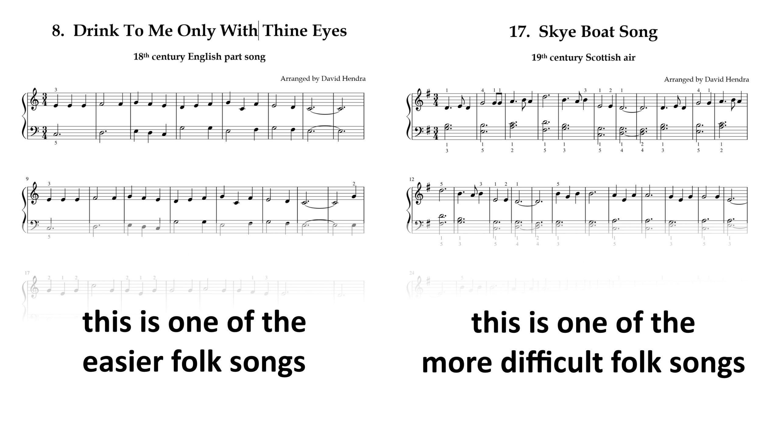 Folk Songs Book One SAMPLES